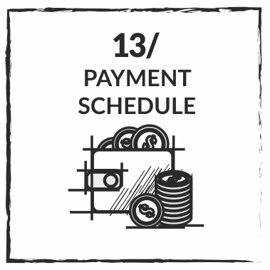 WE PREPARE THE PAYMENT SCHEDULE